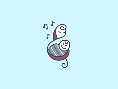 Childbirth Melodies Logo baby mother logo music therapy doula