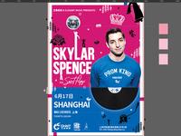 Skylar Spence Poster in Progress