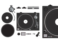 Turntable taken apart