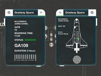024 Boarding Pass | 100 Days of UI Design