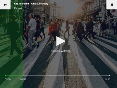 057 Video Player | 100 Days of UI Design