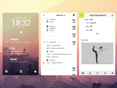 071 Schedule | 100 Days of UI Design