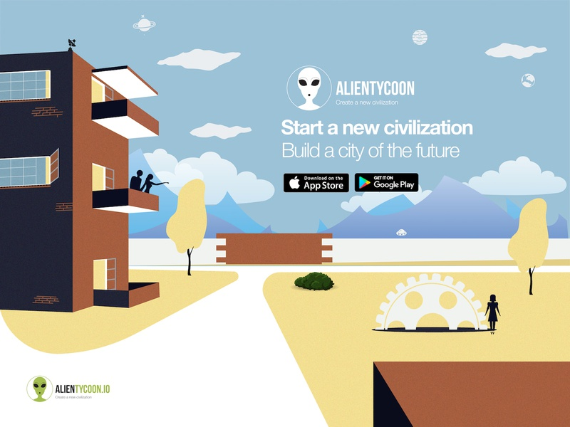 074 Download App | 100 Days of UI Design app download game ufo alien web design uidesign dailyui