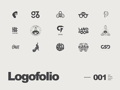 Logofolio 001 monochrome logo design logotype branding mark symbol logofolio logo
