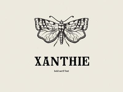 Xanthie Free Serif Font font design type design typeface bold vintage xanthie type freebie serif font free typography