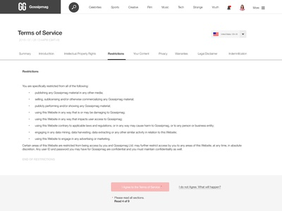 089 Terms Of Service   100 Days of UI Design