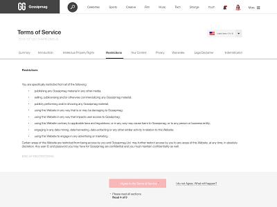 089 Terms Of Service | 100 Days of UI Design web design terms of service privacy policy terms 89 uidesign dailyui