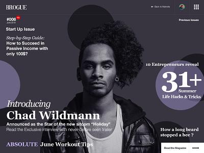 094 News | 100 Days of UI Design cover magazine web design uidesign dailyui