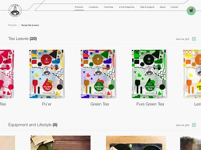 095 Product Tour | 100 Days of UI Design ecommerce shop product tour 95 tea packaging web design uidesign dailyui
