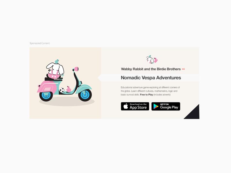 098 Advertisement   100 Days of UI Design 98 game children cute animals promotion advertisement cute illustration web design uidesign dailyui