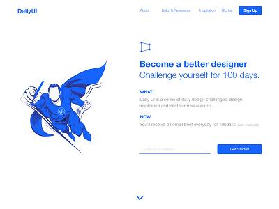 100 Redesign The DailyUI Homepage | 100 Days of UI Design day 100 redesign homepage challenge web design uidesign dailyui