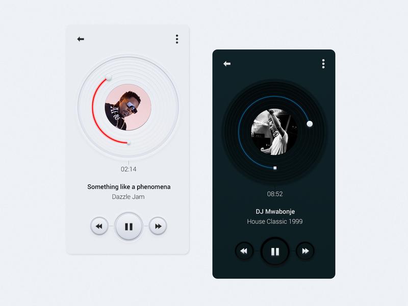 Rethinking Music Player Controls music player control vinyl concept simple minimal app music uidesign