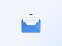 Mail App Icon mailbox mail blue vector minimal modern design logo icon