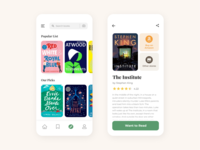 Book Social Catalog app concept catalog ebook interface mobile concept trendy and ios app books book clean minimal design ui
