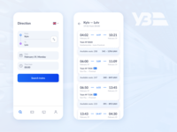 Train tickets app concept modern app blue booking ticket booking tickets catalog ux ui clean minimal design