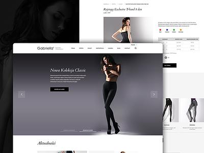 Gabriella Website legs woman page landing website tights gabriella