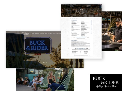 Buck & Rider Website Redesign food culinary restaurant seafood redesign web website design wordpress photo web design photography typography website ui ux design