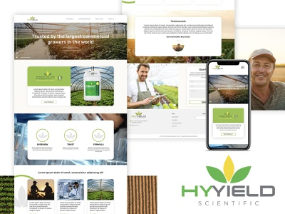 HyYield ui ux photography photo lettering typography website web design branding