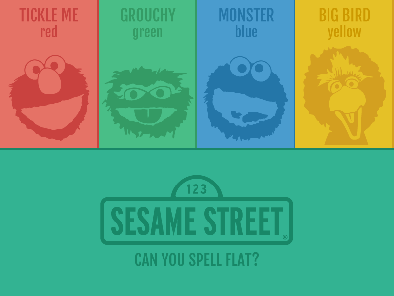 Sesame Street Pioneered The Flat Color Palette by Kyle Ledbetter ...
