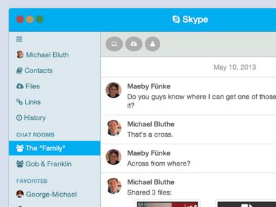 Skype App UX Concept