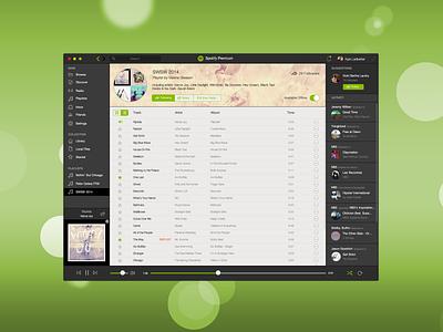 Spotify iOS 7 Inspired OSX App spotify music app osx ios7 flat desktop