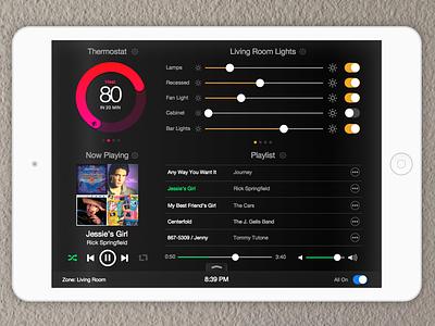 iPad Home Automation ipad ui gui nest sonos lights