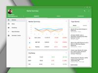 Material Design Google Finance Web