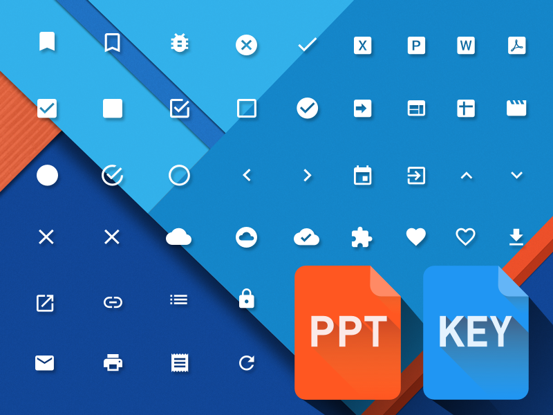 Material Design Powerpoint & Keynote icons material design key ppt icons shapes free download