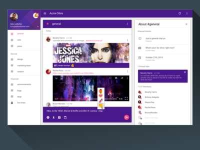 Slack Material Design Desktop App