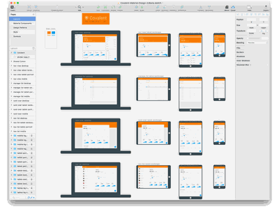 Covalent Material Design Sketch Template [Free download] ui kit teradata free components charts material design sketch