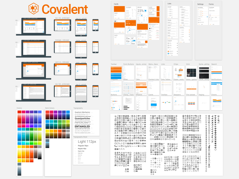 Material Design Charts by Kyle Ledbetter on Dribbble