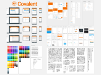 Covalent Material Design Sketch Template [beta] colors icons apps dashboard charts angular d3 sketch material design