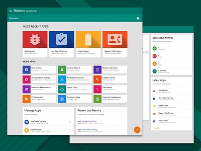 Teradata AppCenter cards data enterprise apps directory covalent angular material design