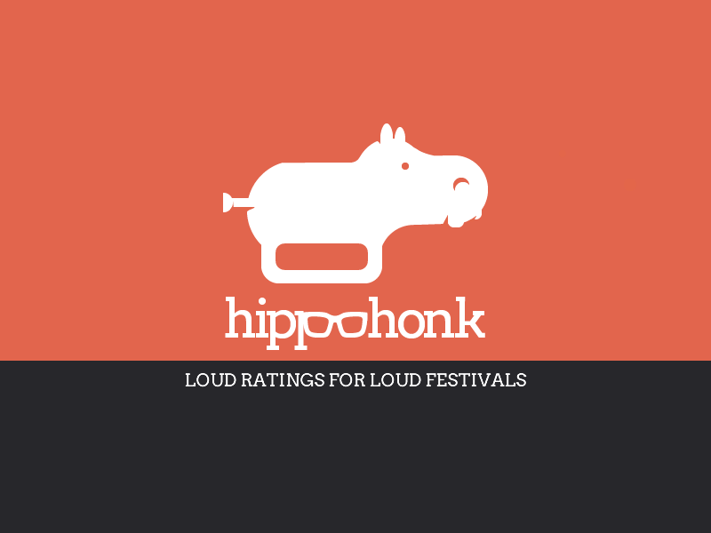 Hippohonk Logo hippopotamus logo animal solid music trumpet austin sxsw aclfest