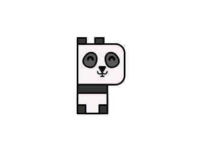 Panda bear letters alphabet animal alphabet vector panda
