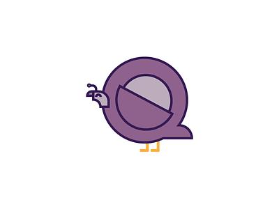 Quail bird letters alphabet animal alphabet vector quail