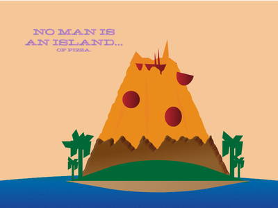 Pizza Island pepperoni cheese texture island pizza