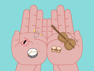 Music Hands triangle tambourine cello vector lessons drum hands music