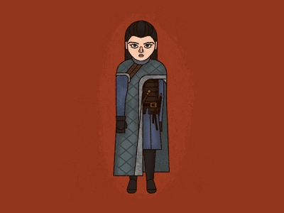 Arya Stark ipad pro affinity designer illustration game of thrones got arya stark