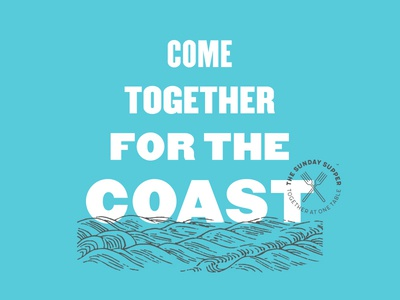 Come Together for the Coast fish farm flood hurricane nc north carolina benefit fundraise hospitality food identity branding