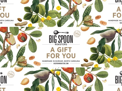 Big Spoon Roasters Gift Wrap nuts botanical natural hospitality food package design packaging