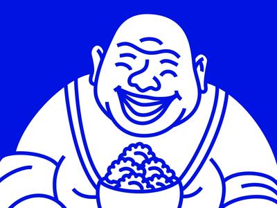 Divine Dumplings Visual Identity restaurant dumplings toronto icon emblem wordmark logo identity branding illustration monk budai