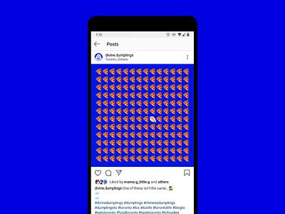 Divine Dumplings Teaser Content digital restaurant gifs emoji dumplings instagram meme content