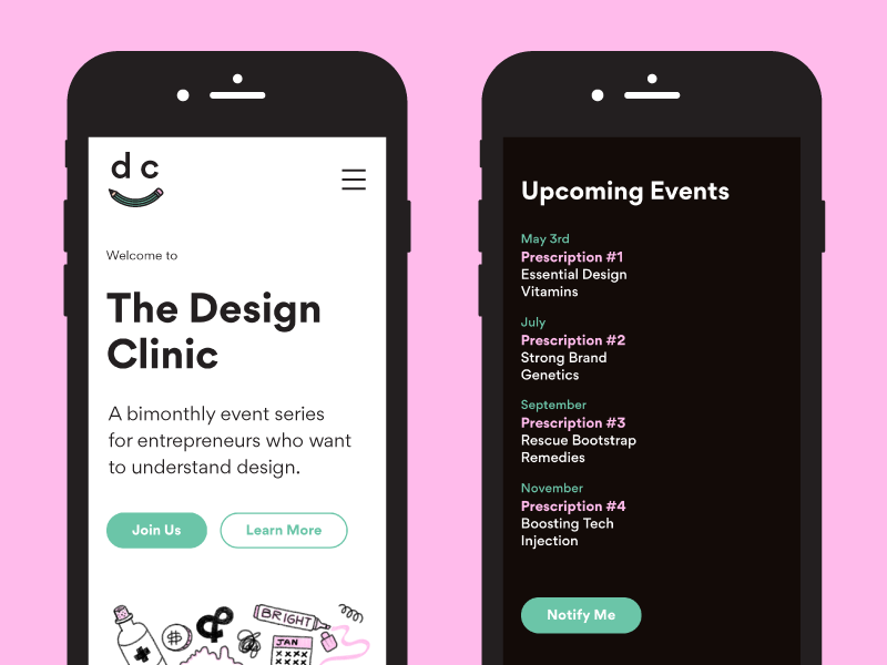 Tdc event landing page dribbble shots