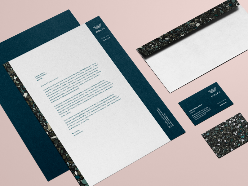 Wolfe dribbble stationary