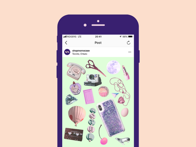 Momo Collage Social Content moodboard content strategy content social media phone case product 70s collage