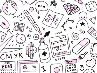The Design Clinic Pattern pattern event icons hand drawn sketch illustration