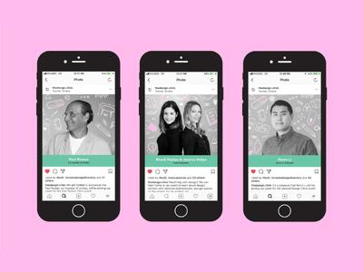 The Design Clinic Instagram Content profile instagram content illustration icons pattern portraits