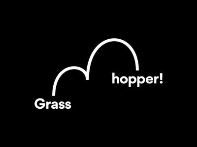Grasshopper Logo restaurant black and white hop branding logo