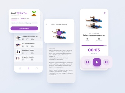 LunaCare Exercises physician therapist app ux ui interface